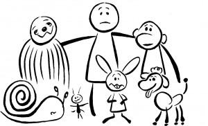 איורים איל אילת מתוך אבולוציה שלי מאת גילי ויינטראוב