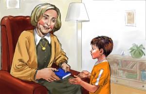 הספר מוקדש לשחקנית ליא קניג, הגברת הראשונה של התיאטרון הלאומי הבימה, חברה קרובה של המחברת שמתפקדת כסבתא במשרה מלאה לילדיה ומככבת בדמות הסבתא באיורי הספר (איורים: לאסלו (לצי) בראון)