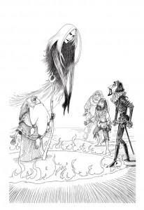 איור מתוך 'הסערה' על פי מחזה של שייקספיר