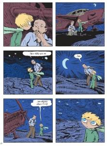 עמוד מתוך הנסיך הקטן בקומיקס מאת ז'ואן ספאר