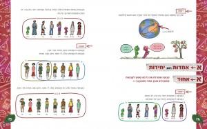 הספר מציג דוגמאות רבות לכל מושג, והטקסט מלווה בשתי דמויות ידידותית: סינוס וקוסינוס התולעים