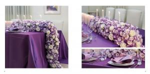 לי ולך - לילך / שולחן אלגנטי בגווני לבנדר ולבן / צילומים: שירן כרמל מתוך סטיילינג באירוח