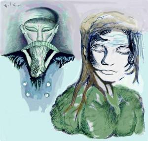 איש ואישה (ציור אורן נחום מתוך הספר)