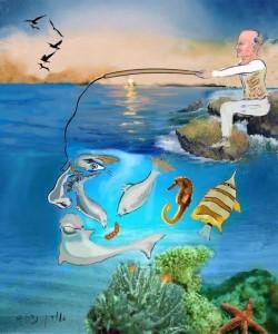 הדייג (ציור אורן נחום מתוך הספר)