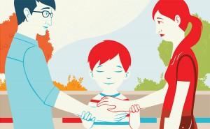 גיבורי הספר הם אימא, אבא וילד, המייצגים מערכת אנושית אוניברסלית